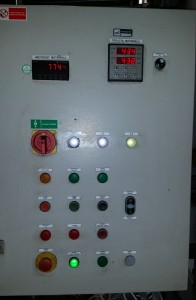 One of the first controlling switchboards with RS04