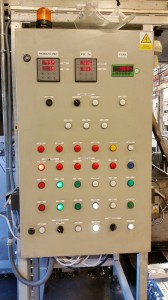 Controlling switchboard for furnace for ZN