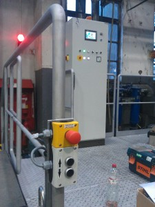 Controlling switchboard for crucible furnace