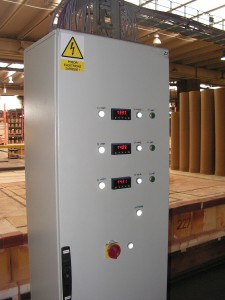 Switchboard for distributed controlling of tunel furnace