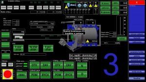 Vizualizace rotační pece na PC